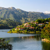 Peneda-Geres National Park. Scenic view of Cavado river and Peneda-Geres National Park in northern Portugal stock photography