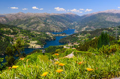 Peneda-Geres National Park. Scenic view of Cavado river and Peneda-Geres National Park in northern Portugal royalty free stock images
