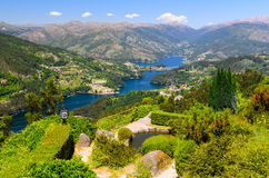 Peneda-Geres National Park. Scenic view of Cavado river and Peneda-Geres National Park in northern Portugal stock photo