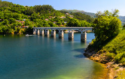Peneda-Geres National Park. Scenic view of Cavado river and Peneda-Geres National Park in northern Portugal stock photos