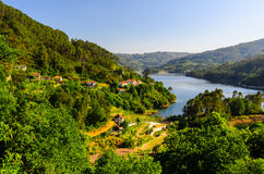 Peneda-Geres National Park. Scenic view of Cavado river and Peneda-Geres National Park in northern Portugal stock image