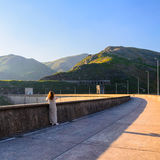 Peneda-Geres National Park. Scenic view of dam on Homem river and Peneda-Geres National Park in northern Portugal Royalty Free Stock Photos