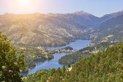 Peneda Geres parka narodowego panoramiczny widok obraz stock