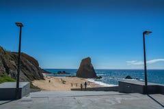 Penedo do Guincho beach in Santa Cruz, Portugal. Stock Images