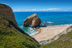 Penedo do guincho beach in Santa Cruz, Portugal. Stock Image