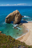 Penedo do guincho beach in Santa Cruz, Portugal. Stock Photography