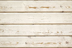 Peneling de madeira áspero obsoleto do CCB branco resistido das ripas Imagem de Stock Royalty Free
