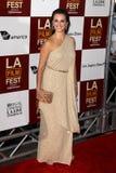 Penelope Cruz komt bij aan   stock foto