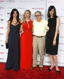 Penelope Cruz, Scarlett Johansson, Woody Allen en Rebecca Hall Royalty-vrije Stock Afbeelding