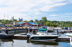 Penetanguishene Harbor in Ontario Stock Photos