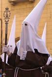 Penetents in Easter Parade, Granada Spain Stock Image