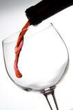 Penetración del vino rojo Foto de archivo libre de regalías