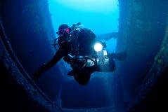 Penetrating The Wreck Royalty Free Stock Photos