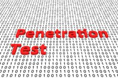 Penetration test. In the form of binary code, 3D illustration Stock Photo