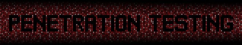 Penetrationstesttext auf Hexenillustration stockfotos