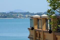 Peng Chaus seaview. Beautiful seaview at Discovery Bay and look for Peng Chau island ,Hong Kong Stock Photos
