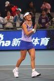 Peng Shuai (China) at the China Open 2009. Peng Shuai (China) at the National Tennis Center in Beijing Royalty Free Stock Photo