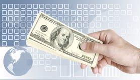 pengaröverföring Arkivbild
