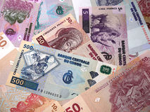 Pengar är Demokratiska republiken Kongo royaltyfri bild