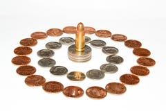 Pengar är makt Arkivfoton