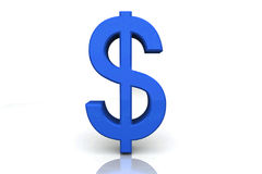 pengar 3d framför tecken Arkivfoton