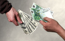 pengar Fotografering för Bildbyråer