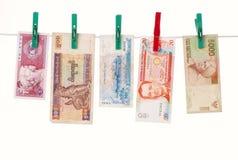 Pengar av asiatiska länder fotografering för bildbyråer