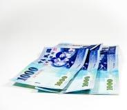 Pengar av blått Royaltyfria Foton