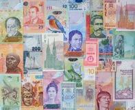 Pengar av de olika länderna Arkivbild