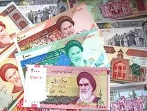 Pengar av Iran Royaltyfria Bilder