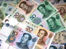Pengar av Kina arkivbilder