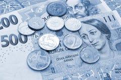 Pengar av Tjeckien, sedlar och mynt p? turist- ?versikt