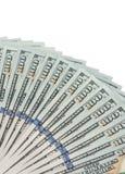 pengar bakgrundsdollar isolerade oss som var vita Arkivbilder
