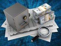 pengar 3d Arkivbilder