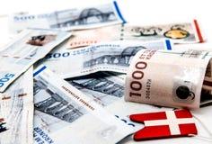 Pengar danska royaltyfria foton