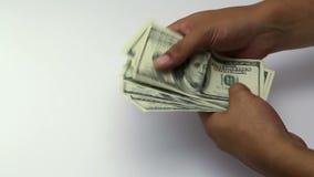 Pengar 100 dollar sedel arkivfilmer