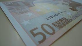 Pengar 50 euro, vinstfinans, valuta, Europa Arkivbild