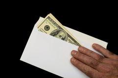 pengar för 10 kuvert Arkivfoton