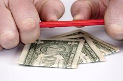 pengar för 5 amerikanska gester Royaltyfri Foto