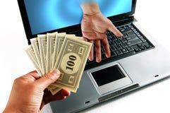 pengar för affär e arkivfoton