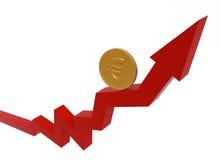 pengar för affärsidégraf ii Fotografering för Bildbyråer