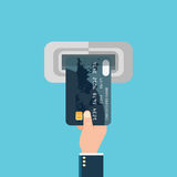 Pengar för betalningbankrörelsefinans Arkivbilder