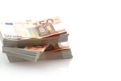 pengar för euro 50 Fotografering för Bildbyråer