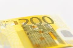 Pengar för 200 euroanmärkningar Arkivbilder
