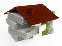 Pengar för hus Royaltyfri Bild
