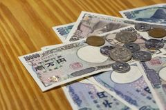 Pengar 1 för japansk yen fotografering för bildbyråer