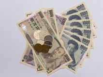 Pengar 8 för japansk yen fotografering för bildbyråer