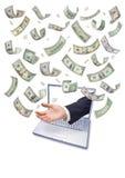 pengar för kommers e online royaltyfria bilder