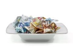 pengar för mat ii Arkivfoton