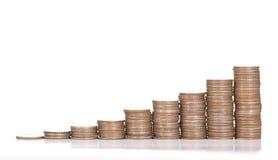 Pengar för myntbuntinsättning Royaltyfri Bild